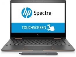 "HP Spectre X360 13.3"" 2-In-1 Convertible TouchScreen Laptop - 8th Gen Intel Core I7 1.8GHz - 16GB RAM - 512GB SSD - Dark Ash"