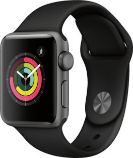 Apple Watch Series 3 (GPS) 38mm Space Grey Aluminum Case with Black Sport Band