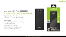Oraimo Aurora 10 Pro | OPB-B105D | 10,000mAh Fast Charging Power Bank