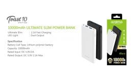 Oraimo Toast 10 | OPB-P106D | 10,000mAh Ultimate Slim Fast Charging Power Bank