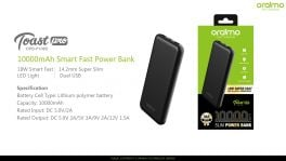 Oraimo Toast Pro | OPB-P108D | 10,000mAh 18W Smart Fast Charging Power Bank