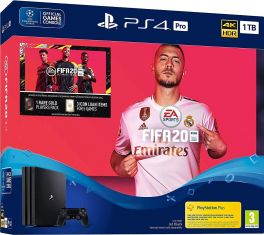 Sony PlayStation 4 (PS4) Pro 1TB Console + FIFA 20 Bundle - Jet Black