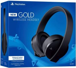 Sony Gold Wireless 7.1 Virtual Surround Sound Gaming Headset for PlayStation 4