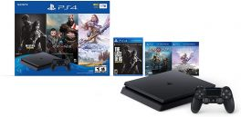 Sony PlayStation 4 (PS4) Slim 1TB Console Bundle with The Last of Us: Remastered, God of War & Horizon Zero Dawn